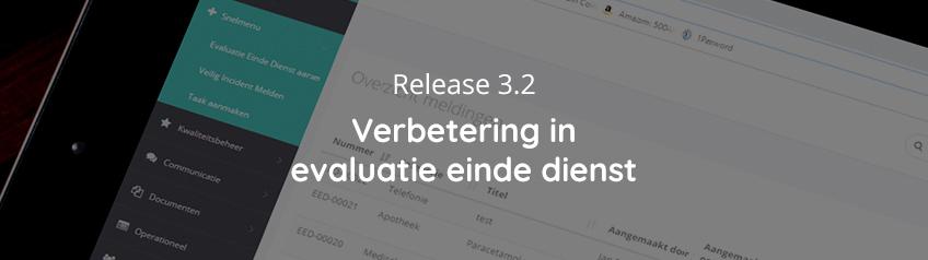 Release 3.2 - Verbetering in evaluatie einde dienst