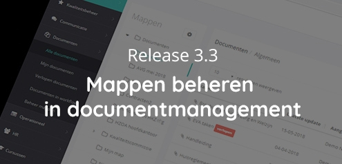 Release 3.3 - Mappen beheren documentmanagement