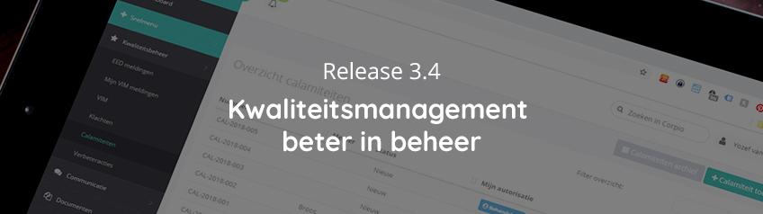 Kwaliteitsmanagement beter in beheer – Release 3.4